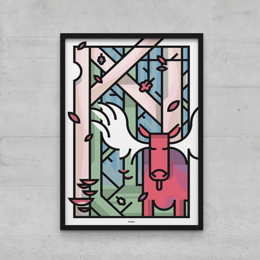 Affiche poster élan graphique 40x60