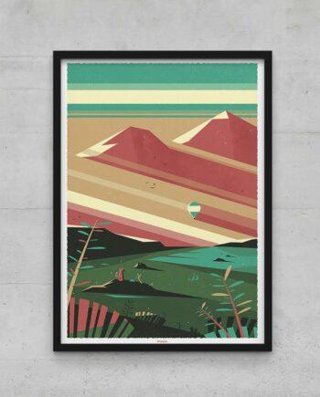 Affiche poster montagne graphique
