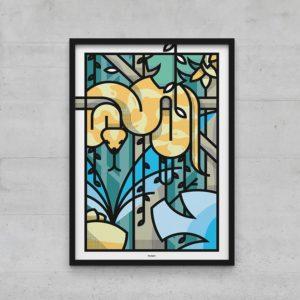Affiche poster serpent graphique 40x60
