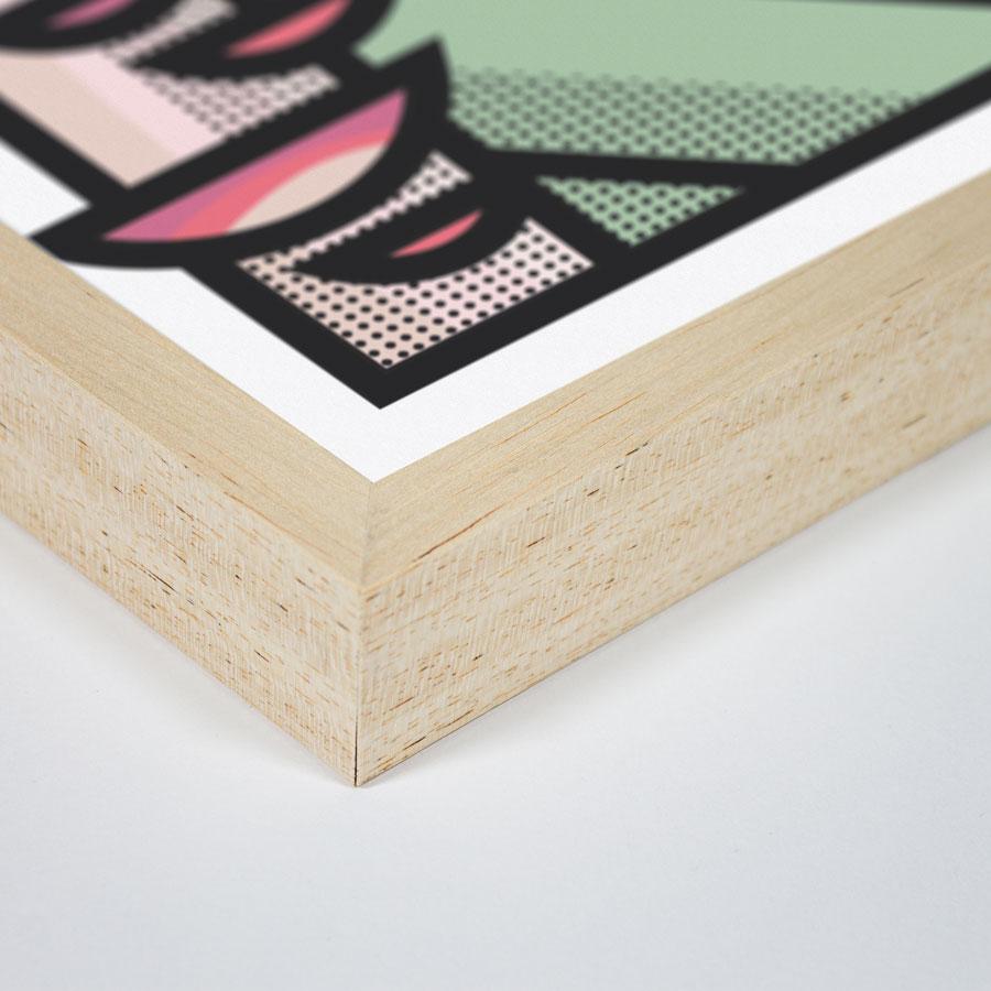 zoom cadre bois rapide élan