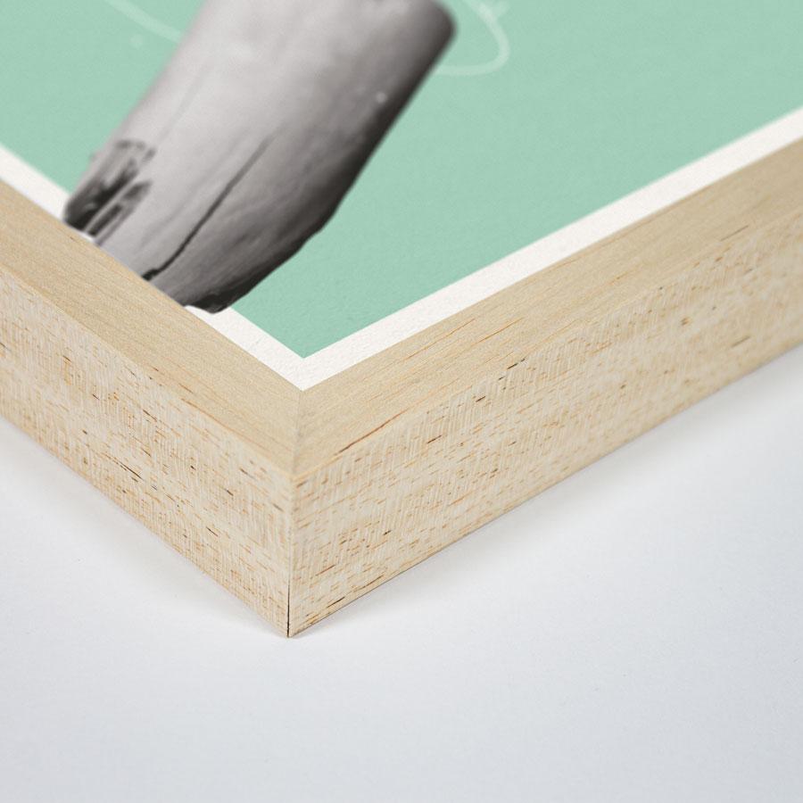 zoom cadre bois goeland
