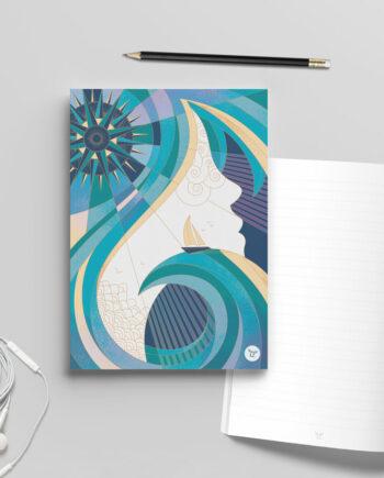 carnet bloc-note bord de mer muse