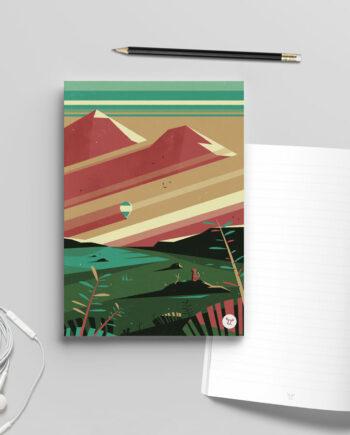 carnet bloc-note renard montagne graphique