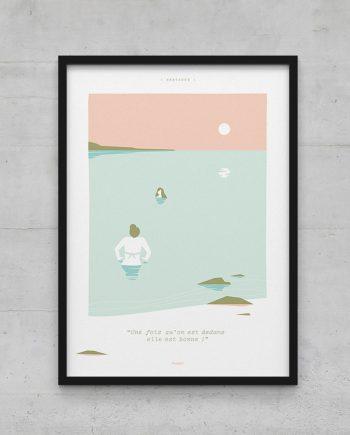 """affiche """"phrase de mer"""" mise en situation"""
