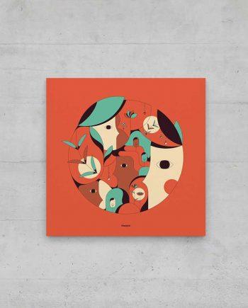 """affiche """"visages et nature"""" mise en situation"""